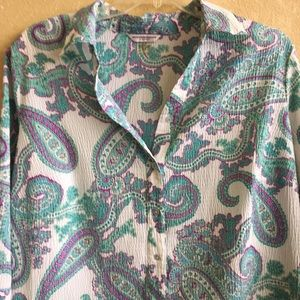 plus size 24w Allison Daley button up shirt